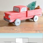 DIY vintage Christmas truck with mini trees