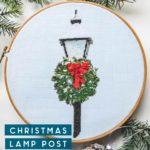 christmas lamp post cross stitch pattern