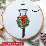 christmas lamppost cross stitch pattern