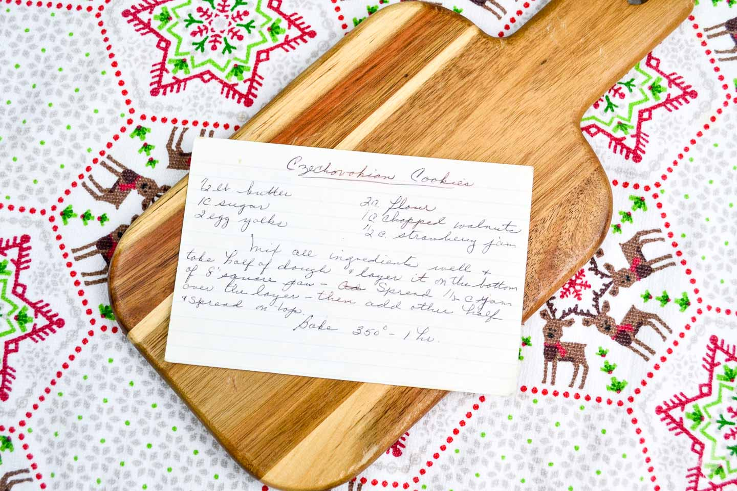 cookie recipe in my grandmother - granny's - handrwriting