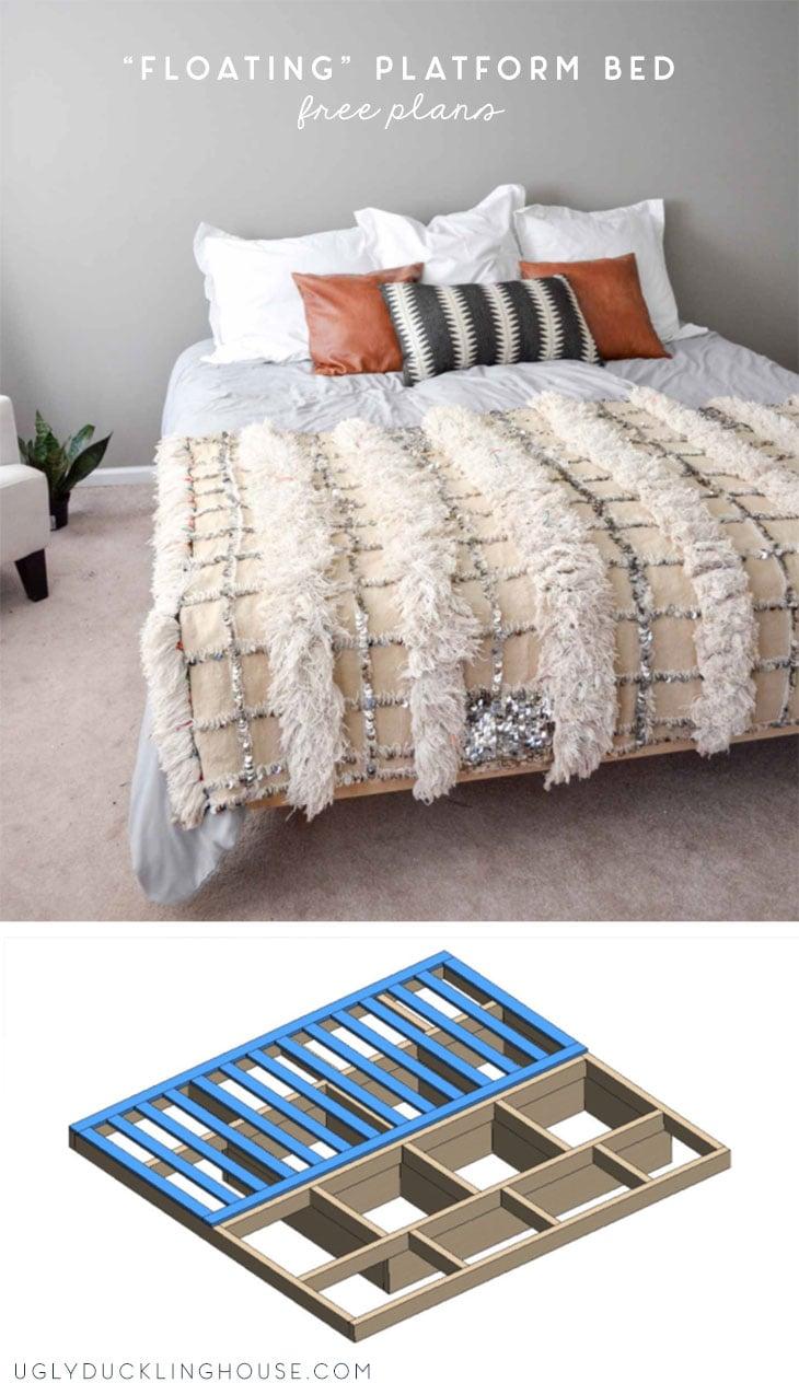 king size platform bed free plans