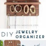 diy magnetic brass and walnut jewelry organizer by Ugly Duckling House