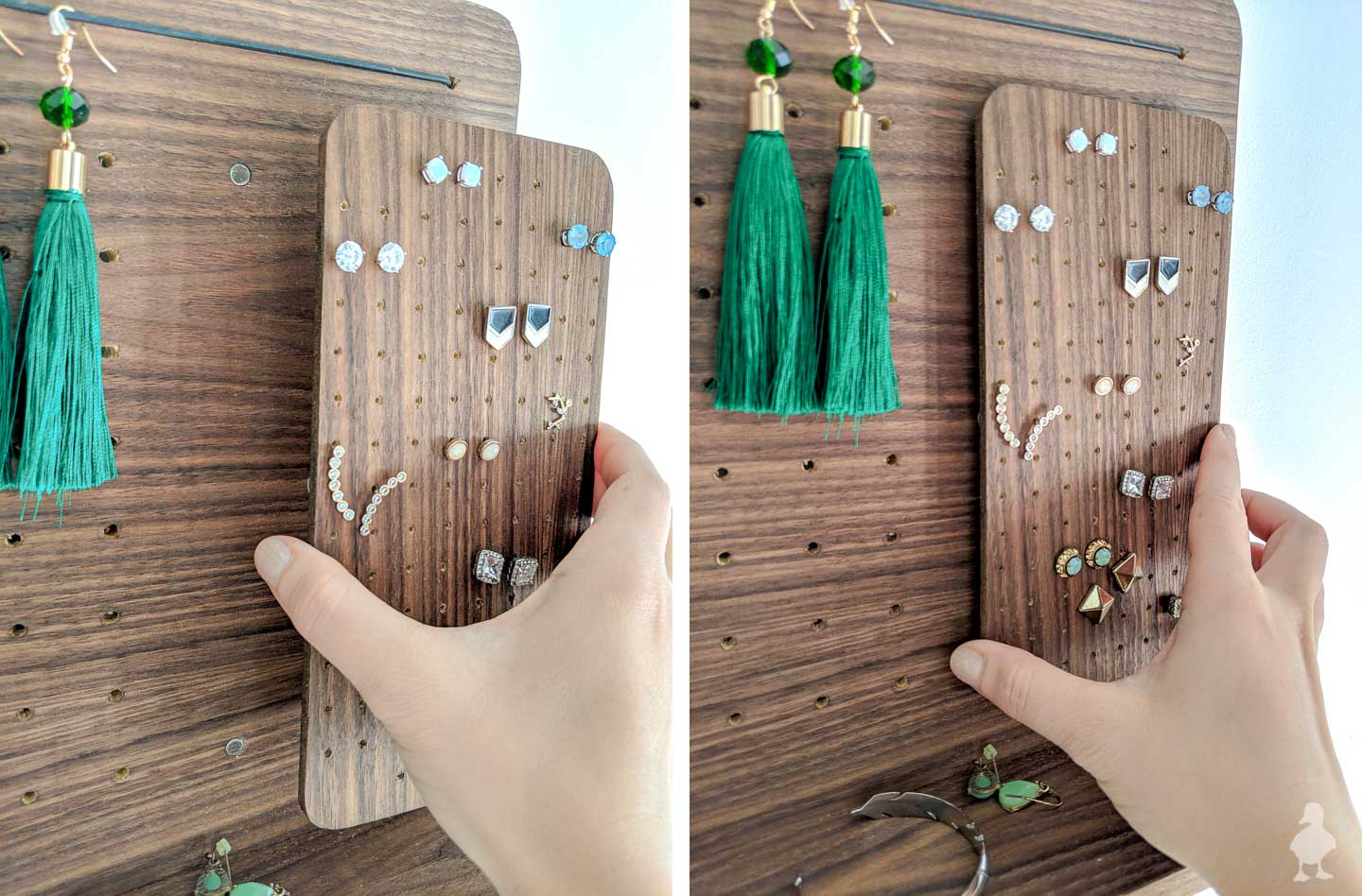 magnetic mount for earring holder