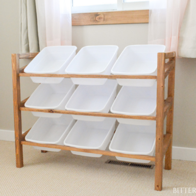 DIY Storage Shelf with Baskets