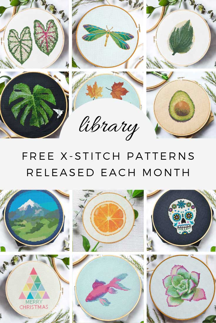 free cross stitch patterns library