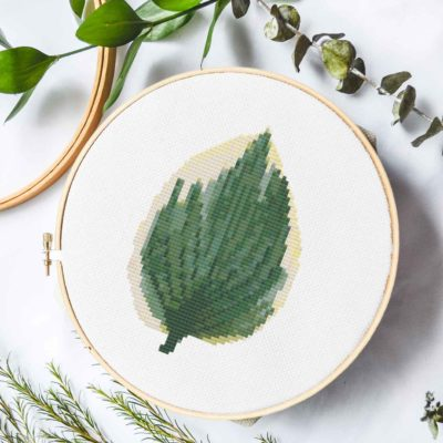 Hosta Leaf | Free Cross Stich Pattern