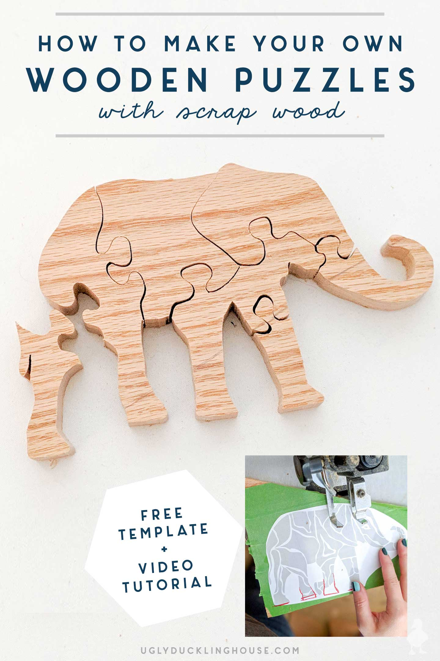 how to make your own DIY puzzles from scrap wood