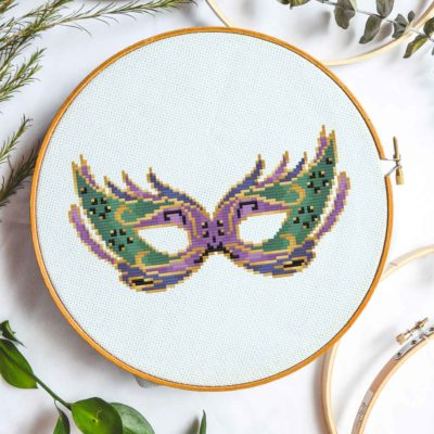 mardi gras mask cross stitch