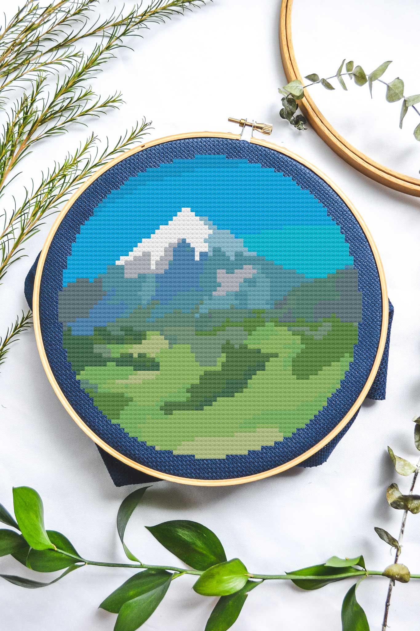 Mountain | Free Cross Stich Pattern