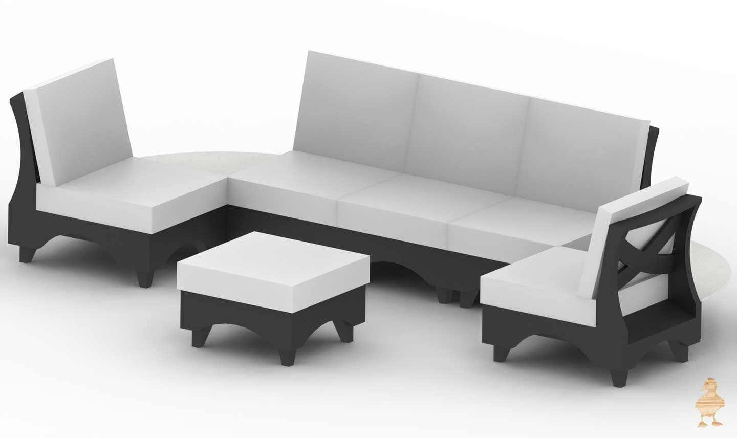 Crescent Outdoor Conversation Set