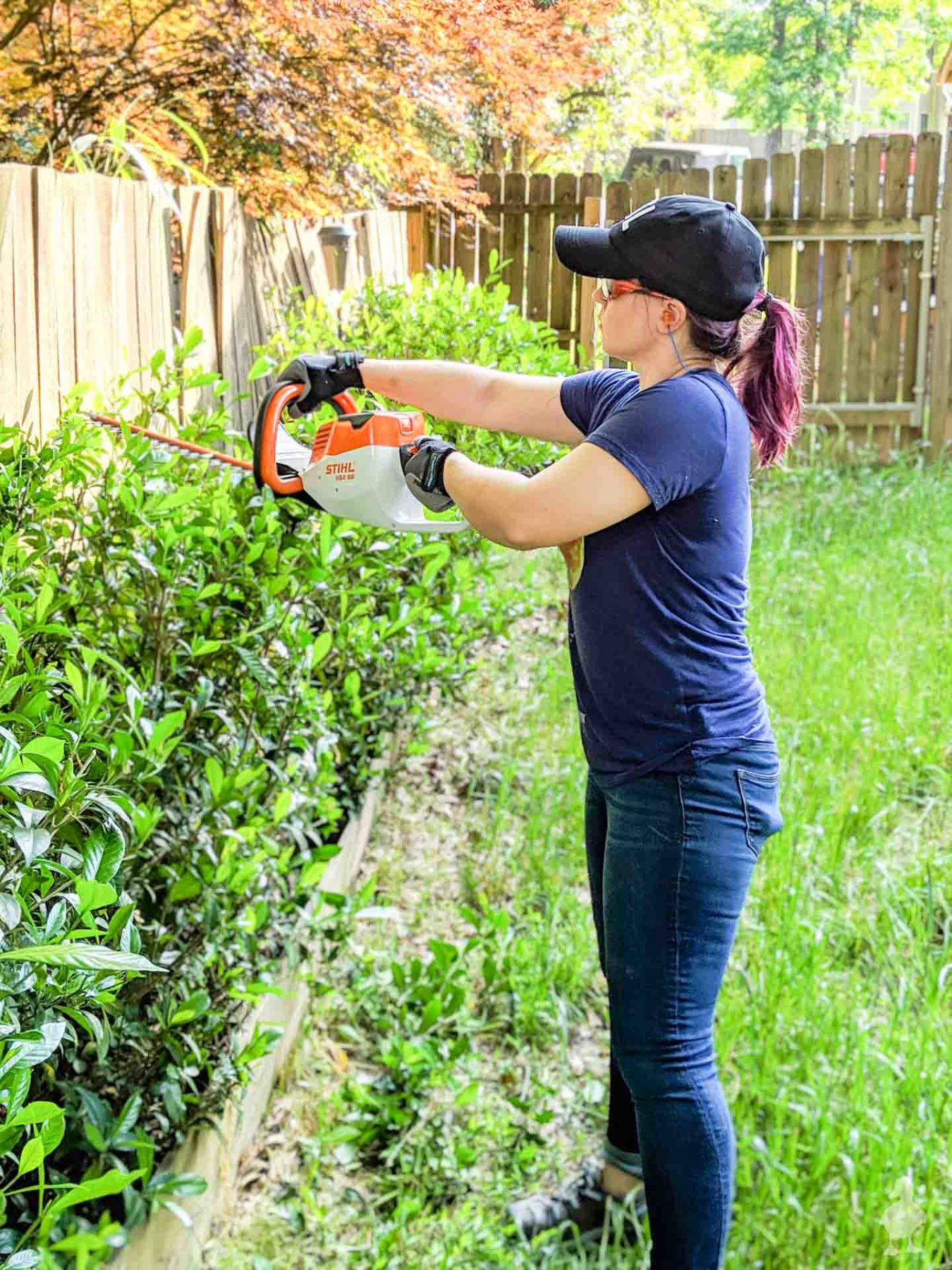 STIHL battery powered hedge trimmer
