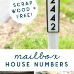 mailbox house numbers address sign
