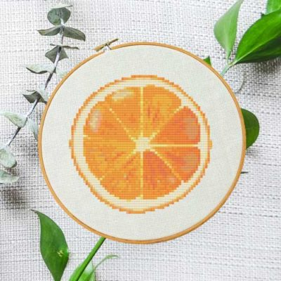 Orange Slice | Free Cross Stitch Pattern
