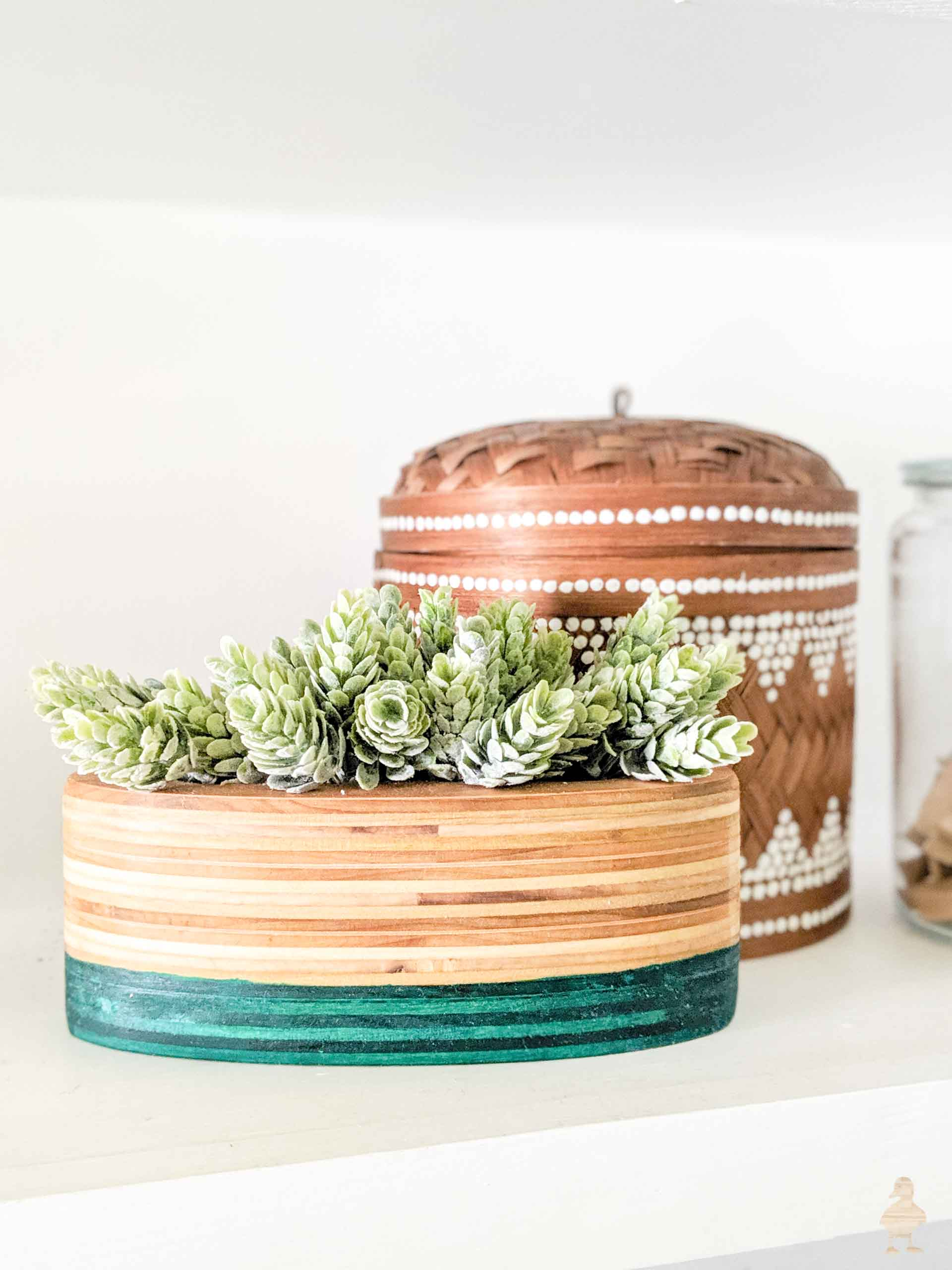 DIY Stacked Plywood Planters