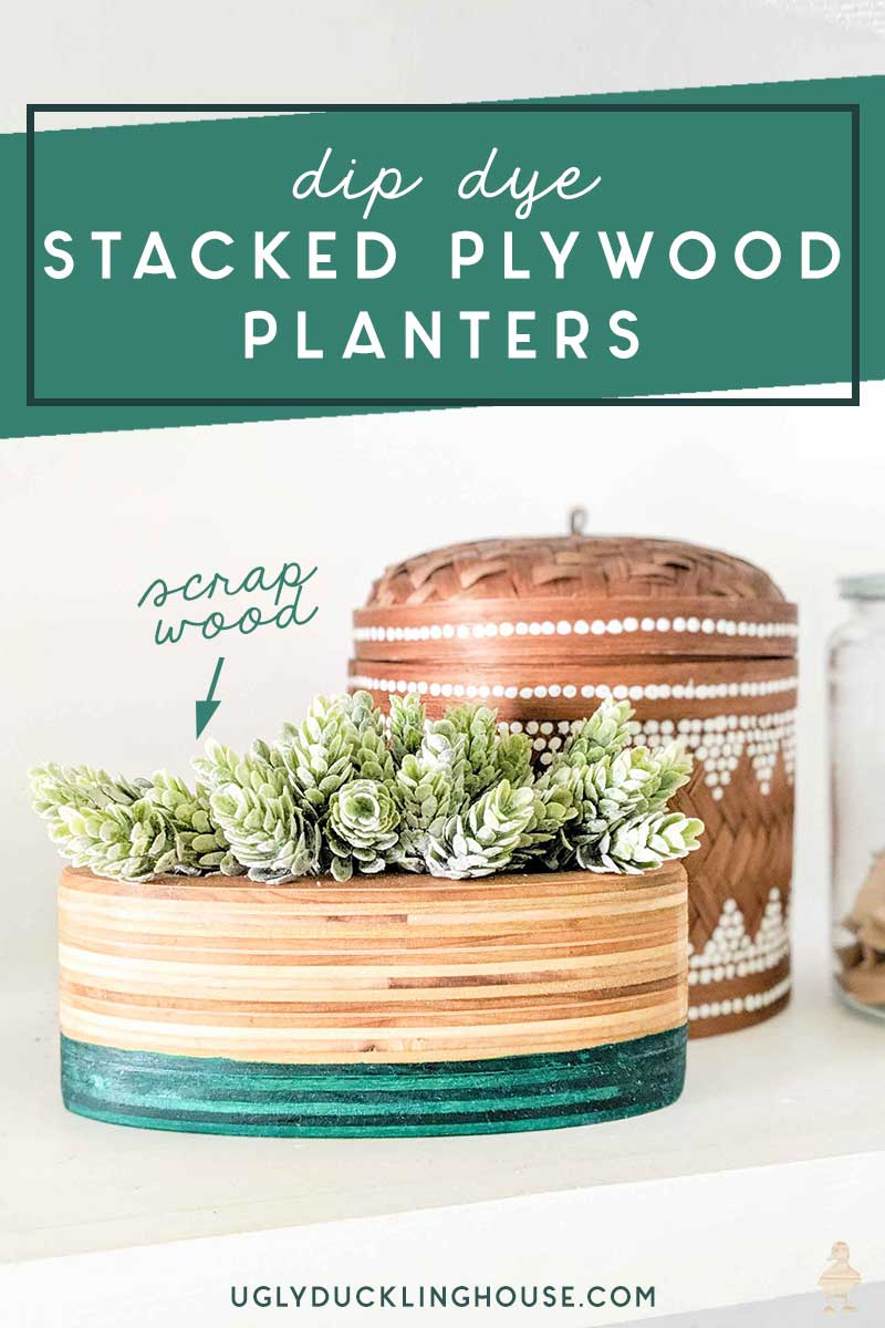 dip dye stacked plywood planters