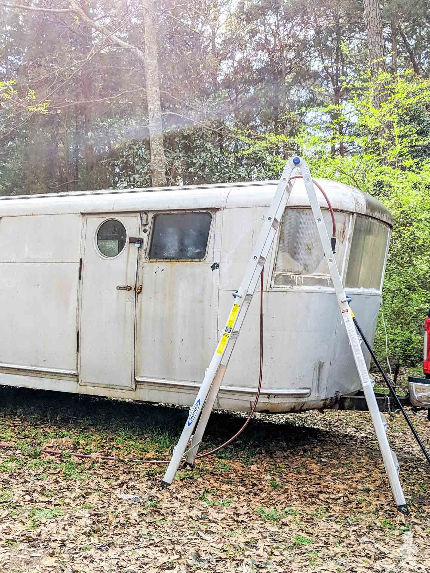 Rubys Revival - front of trailer in woods