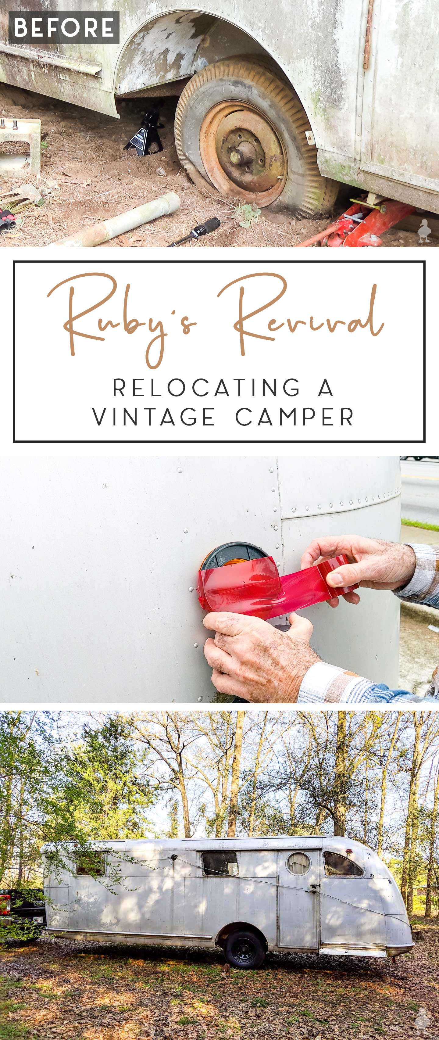 relocating a vintage camper