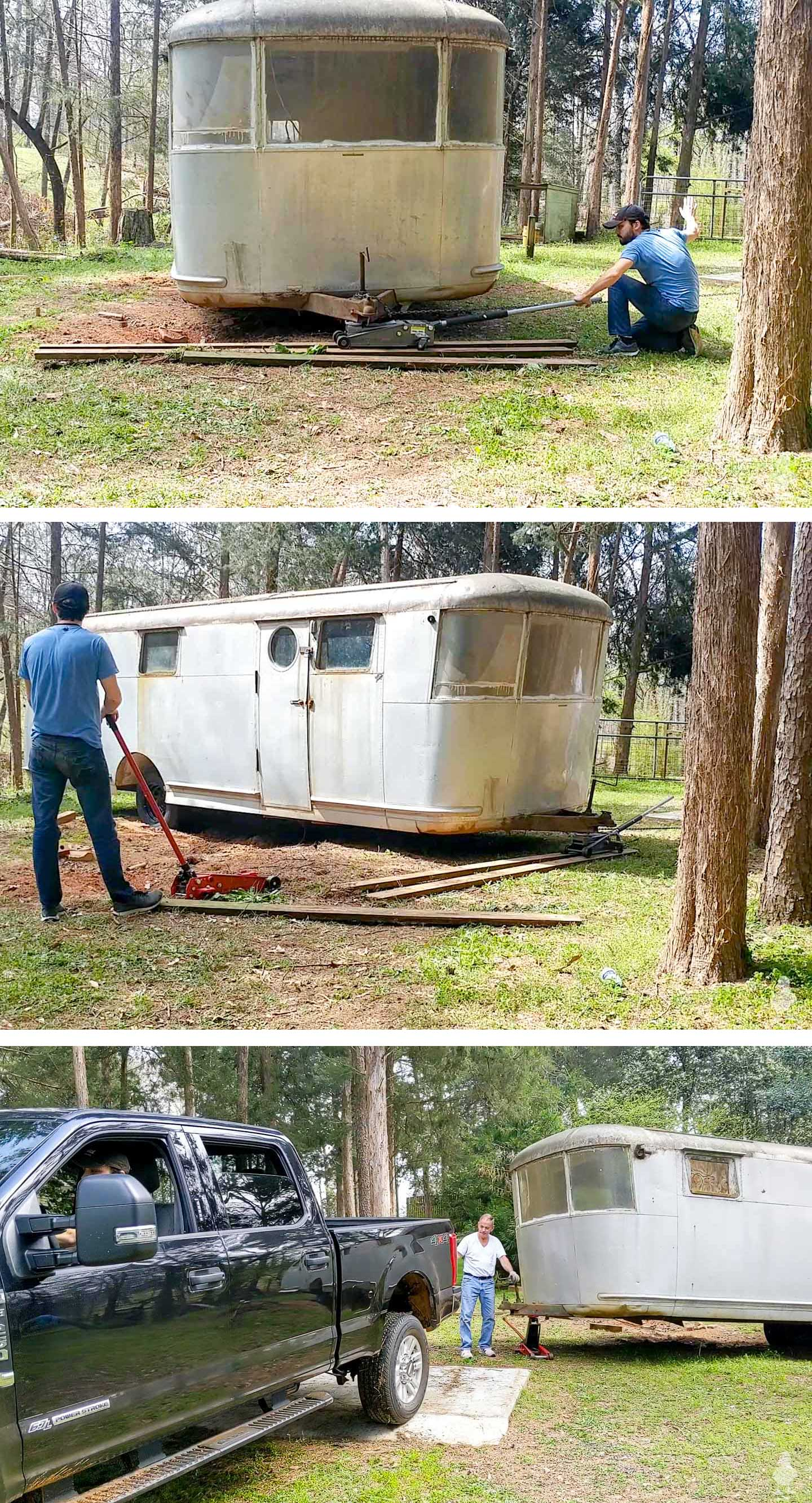 Rubys-Revival-turning-the-camper-around-and-hooking-it-up-to-the-truck how to move an airstream