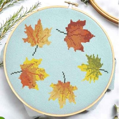 Fall Leaves | Free Cross Stitch Pattern