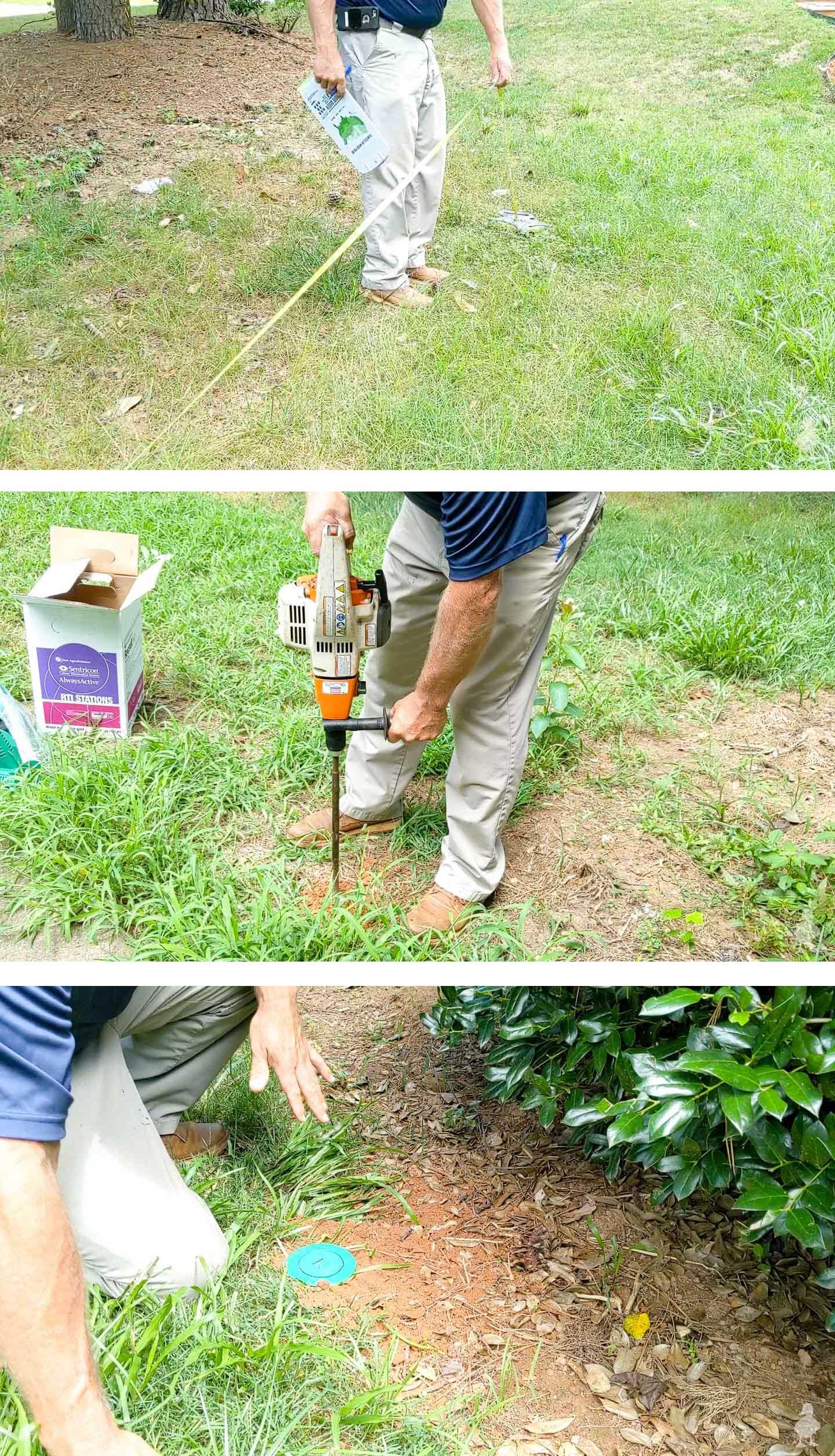 termite bait installation process