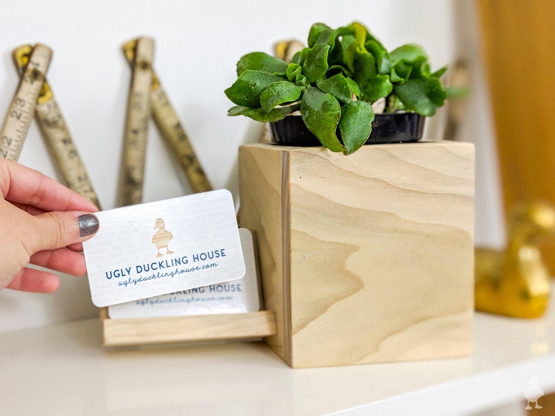 Diy Desk Planter Business Card Holder
