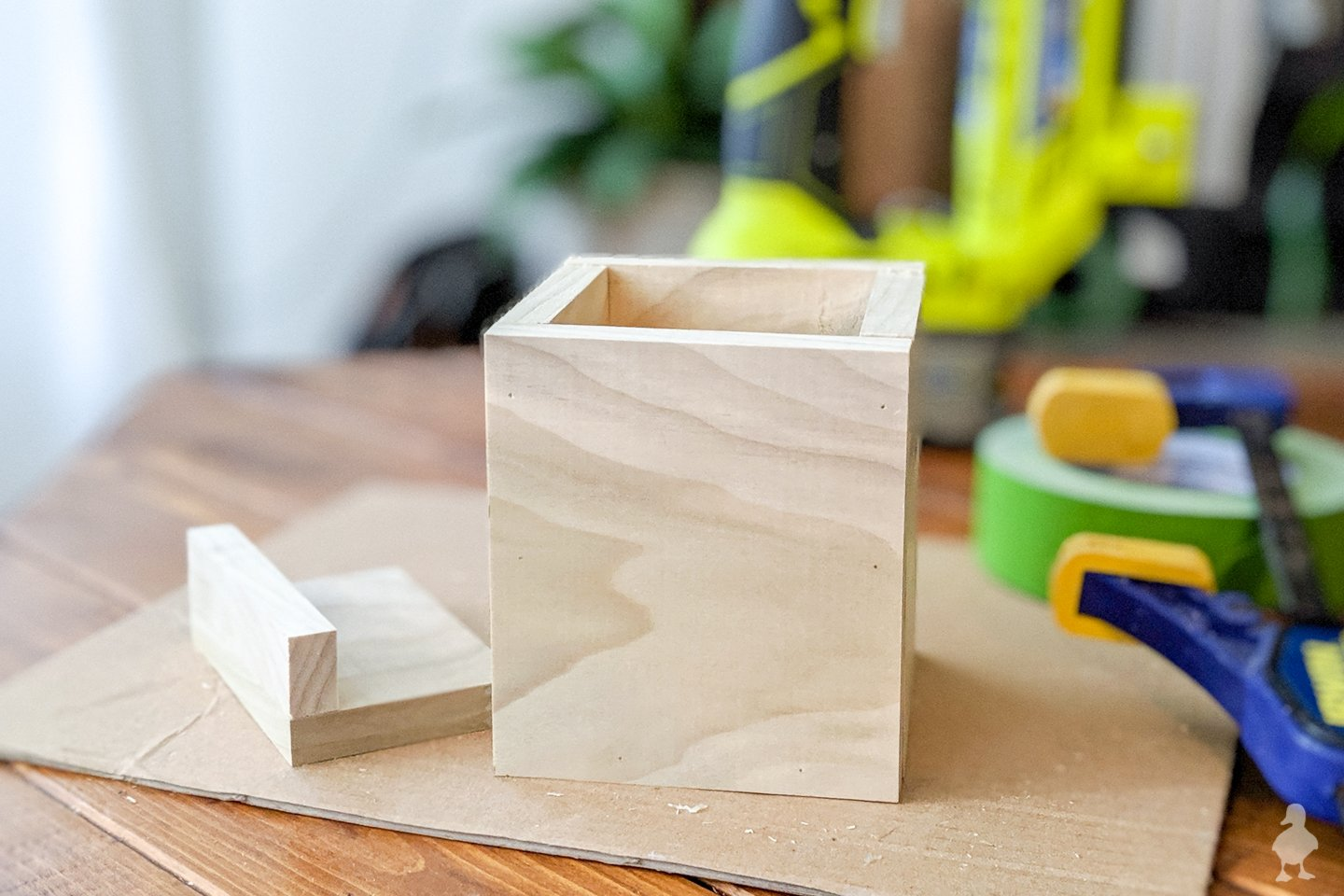 box and card holder glue up