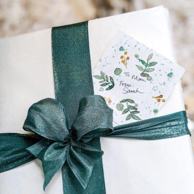 christmas watercolor printable gift tags