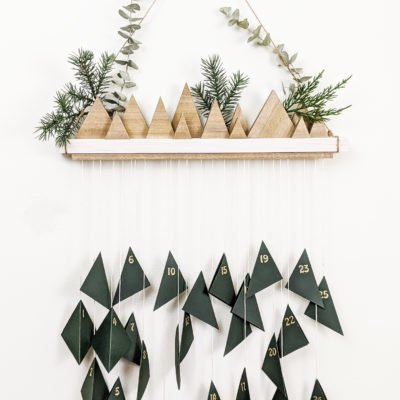 DIY wooden advent calenar