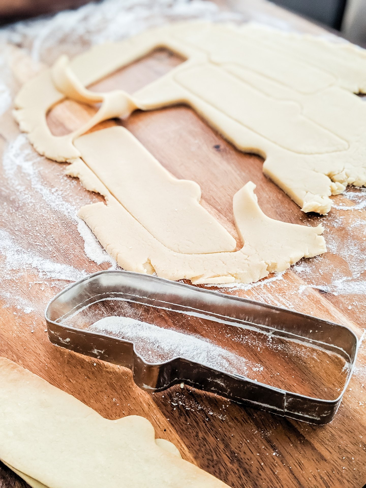 diy cookie cutter and dough