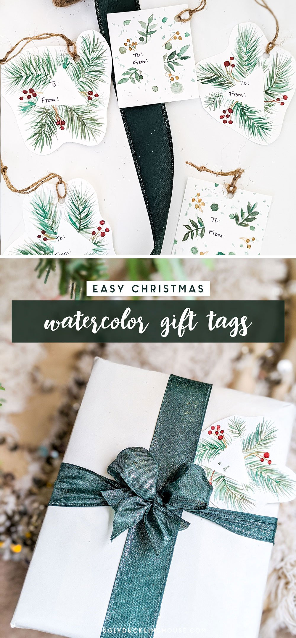 watercolor gift tags assorted