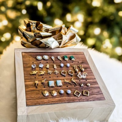 easy DIY earring stud box