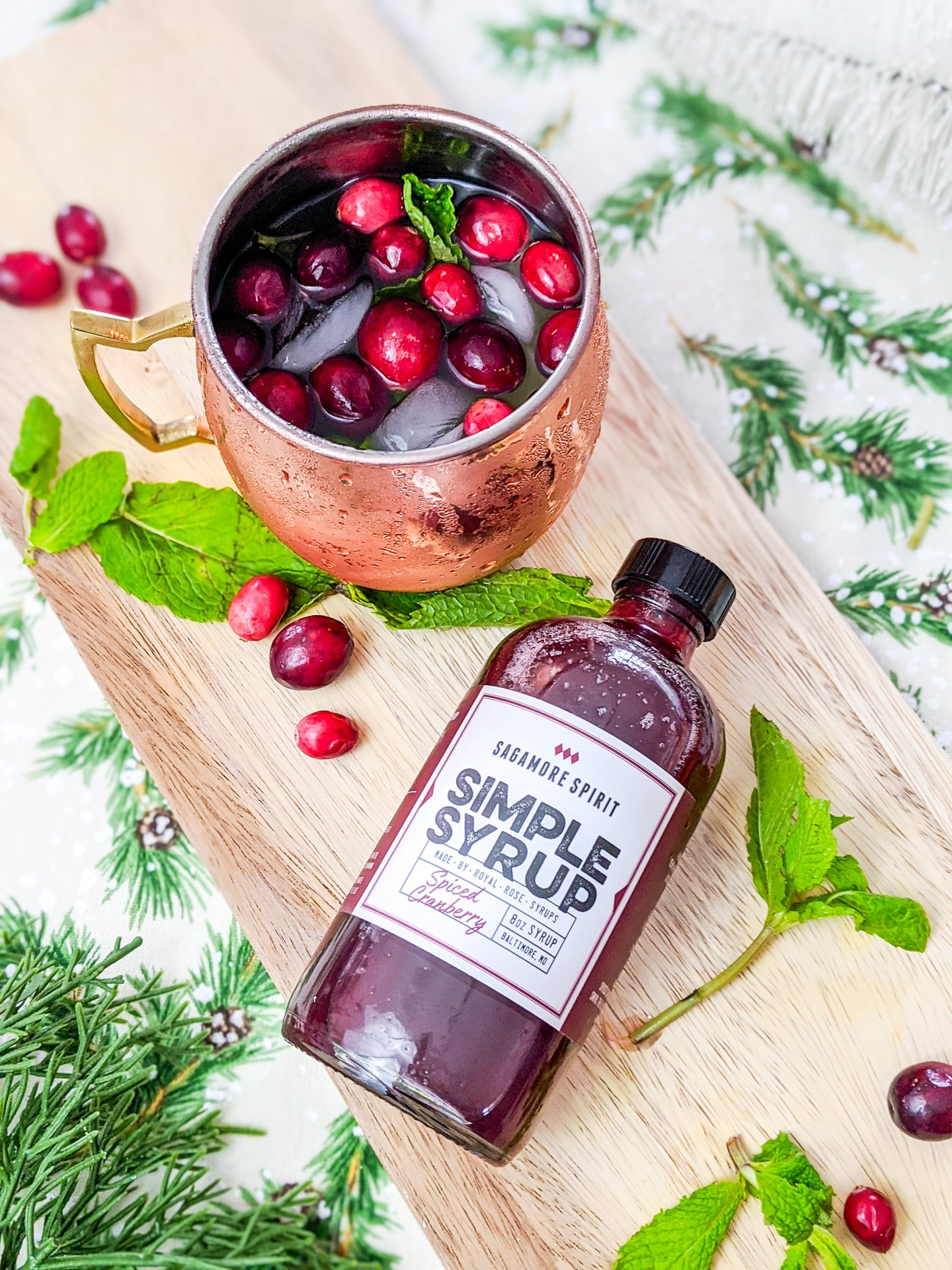 Sagamore Spirit cranberry simple syrup