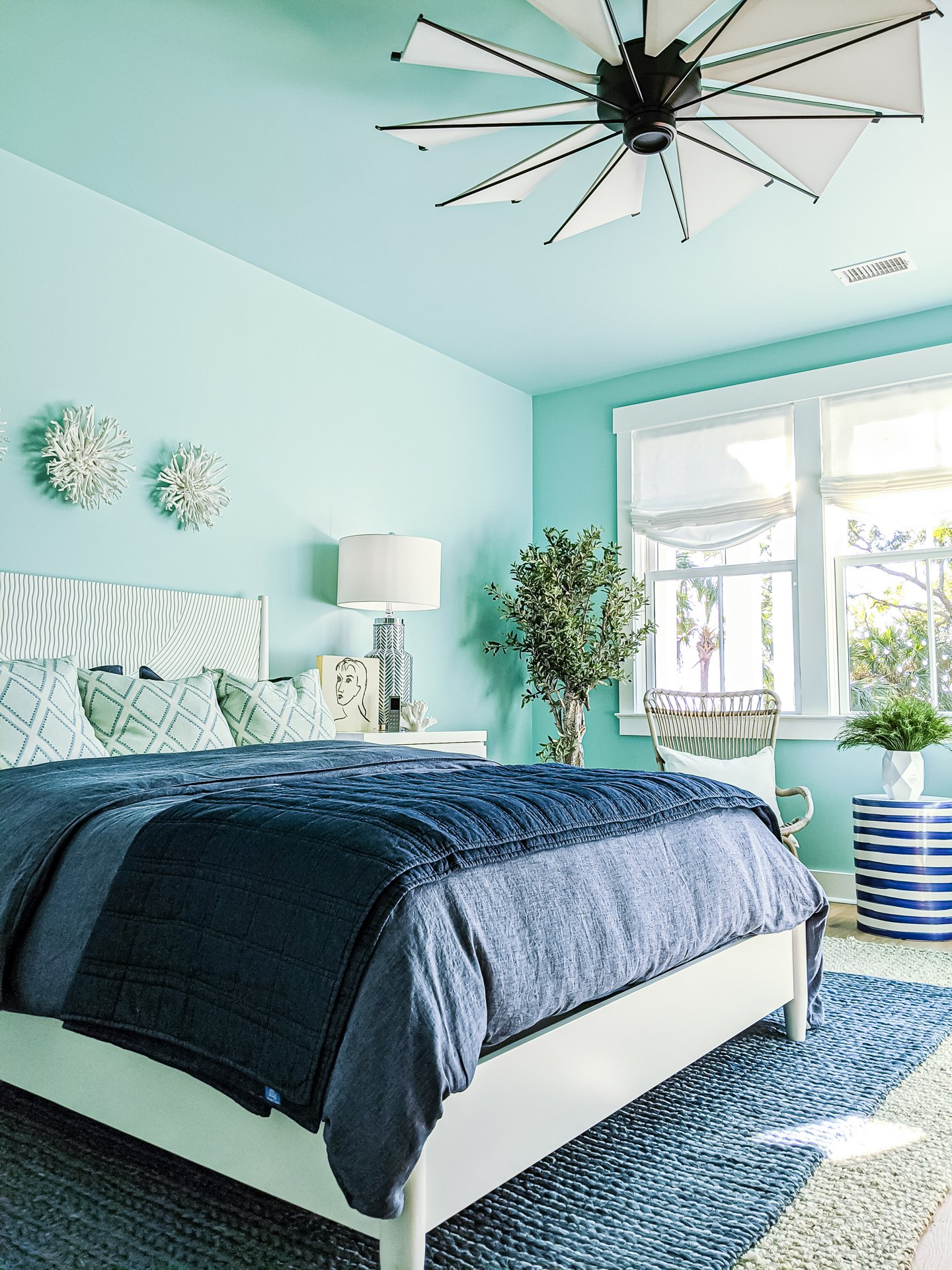 blue coastal bedroom