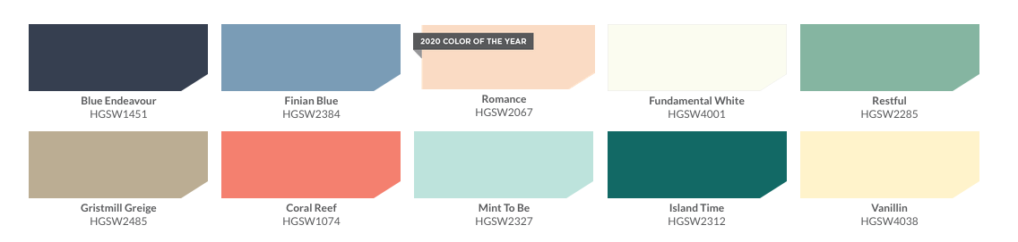 Sherwin Williams 2020 Color Collection HGTV Dream Home