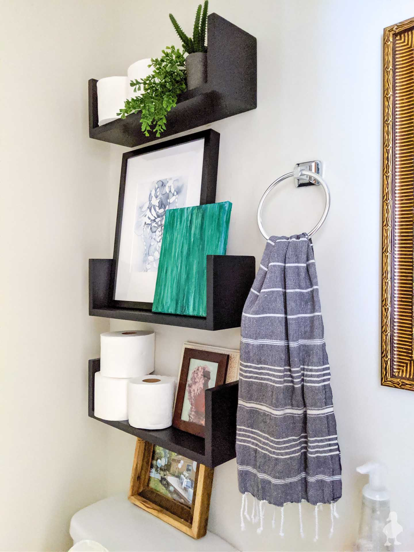 "DIY ""Floating U"" Wall Shelves"