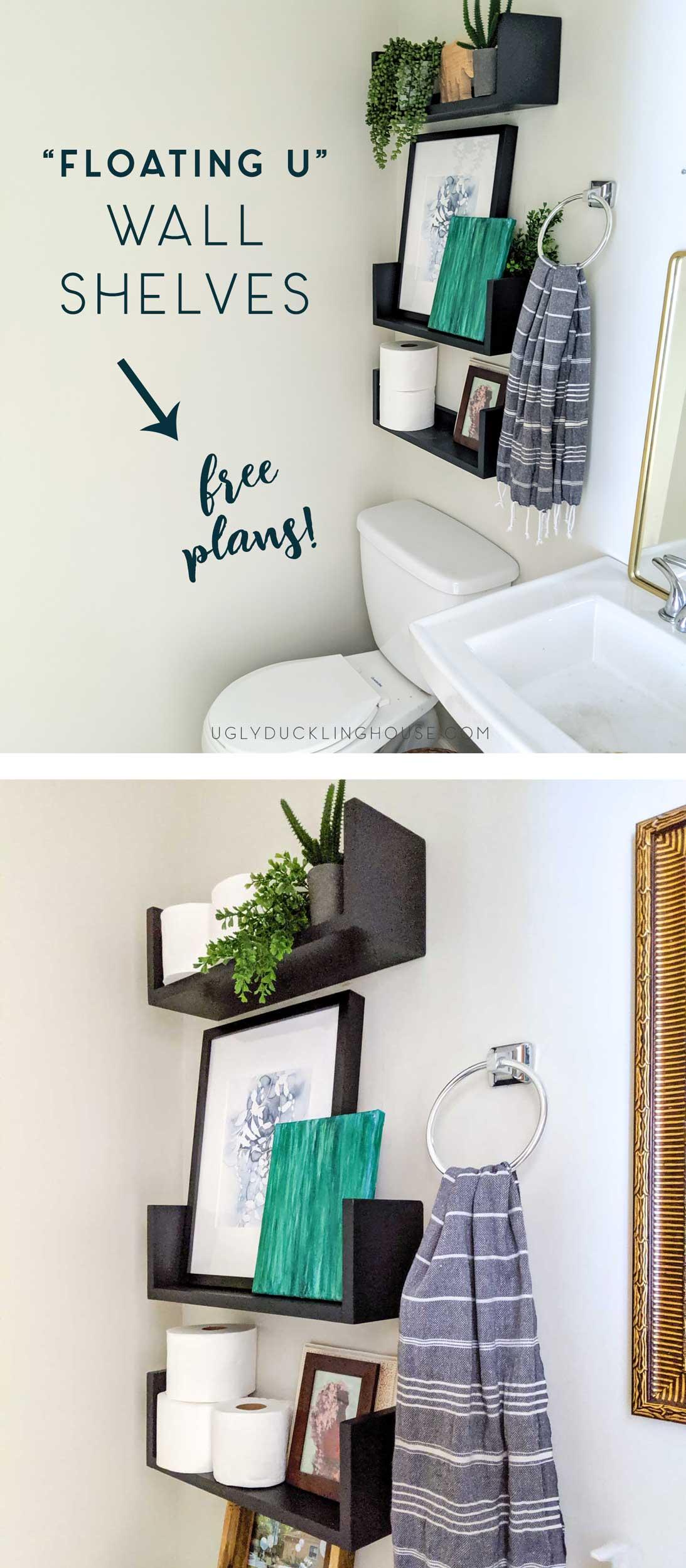 DIY floating u-shelves