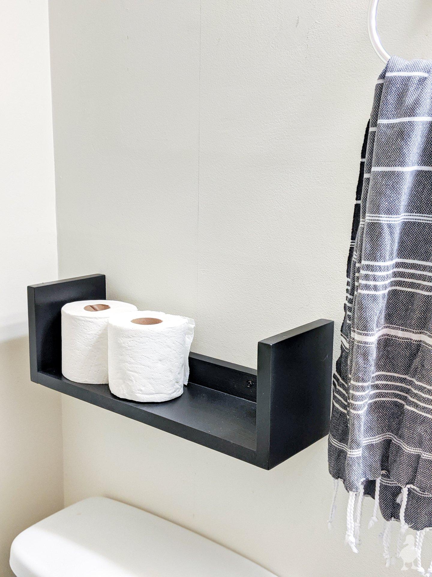 hang bottom shelf first
