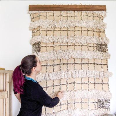 DIY Modern Quilt, Blanket, & Textile Hanger