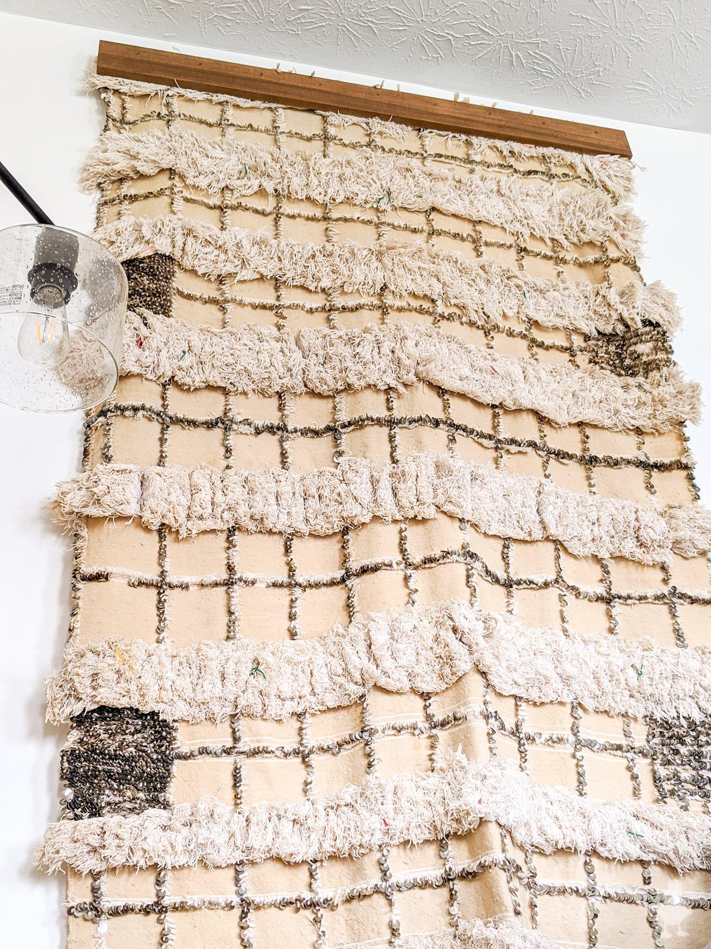 moroccan wedding blanket handira wall hanging
