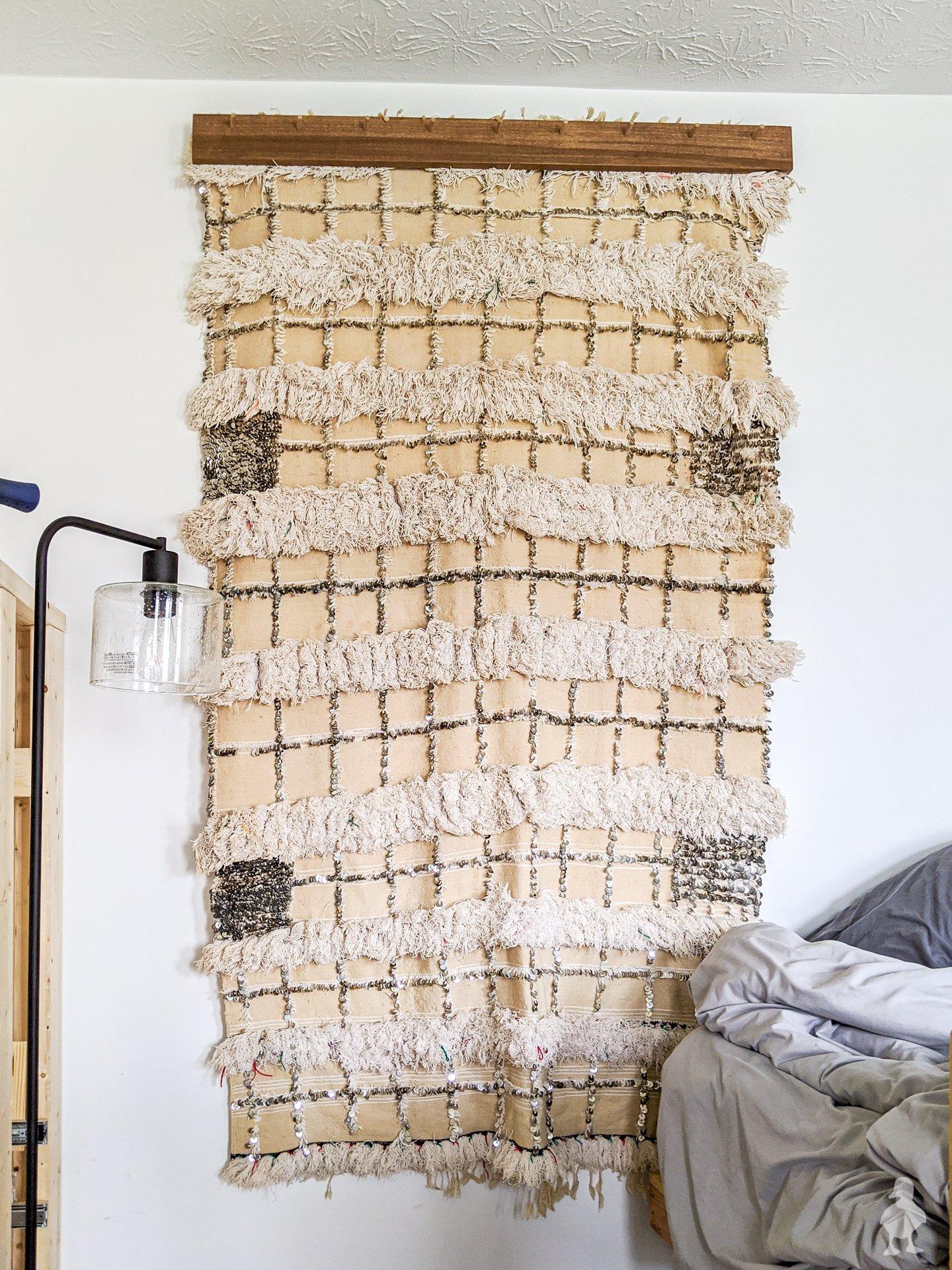 Diy Modern Quilt Blanket Textile Hanger Ugly Duckling House