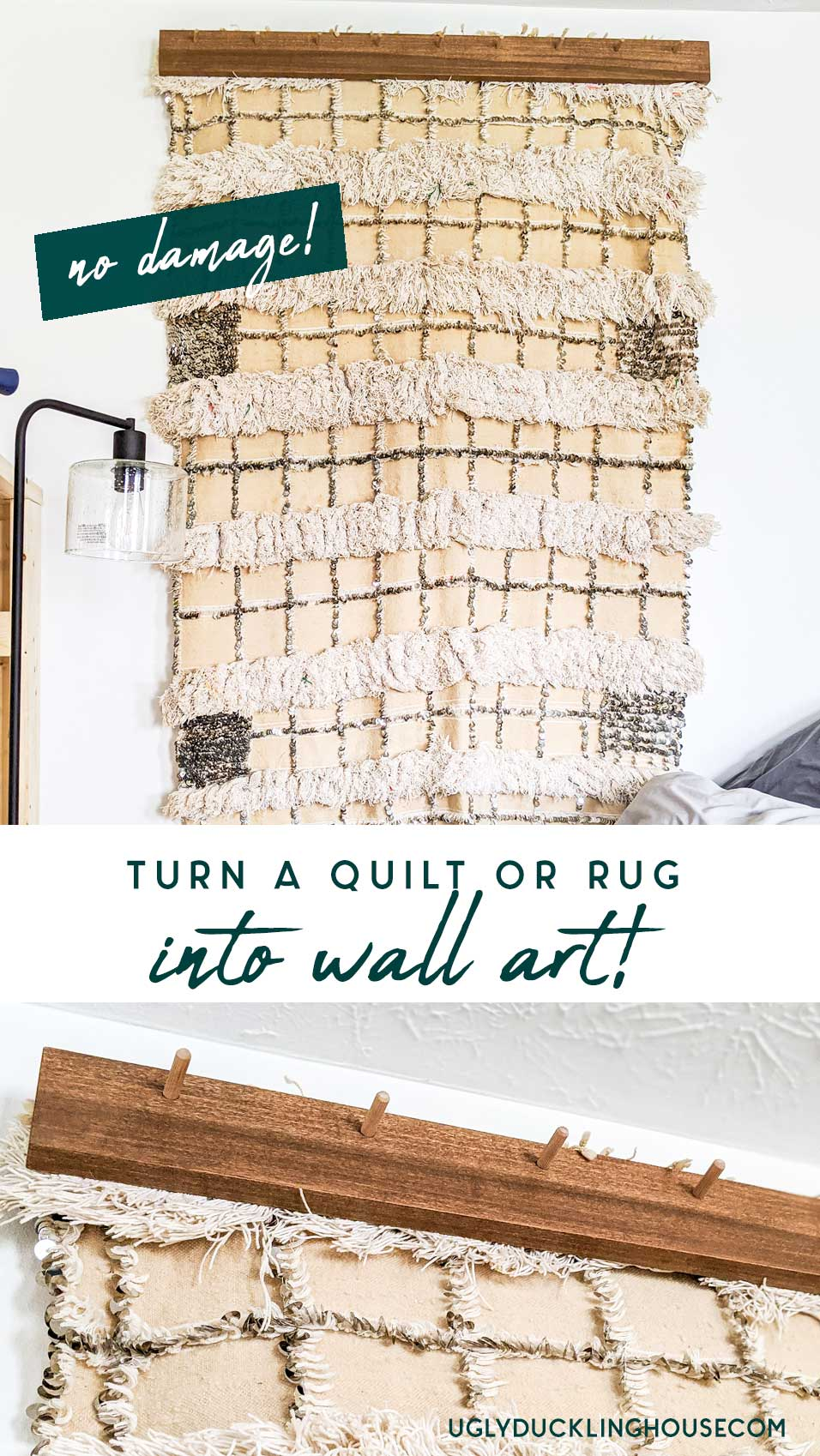 how to turn a quilt into wall art