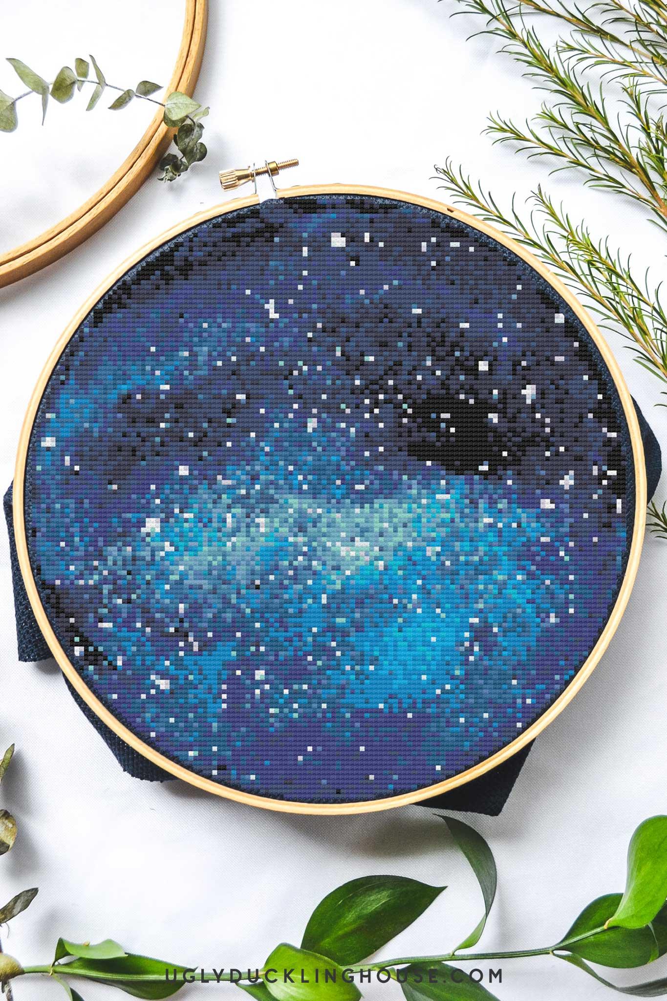 Blue Space | Free Cross Stitch Pattern