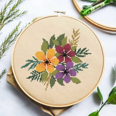 Fall Flowers | Free Cross Stitch Pattern