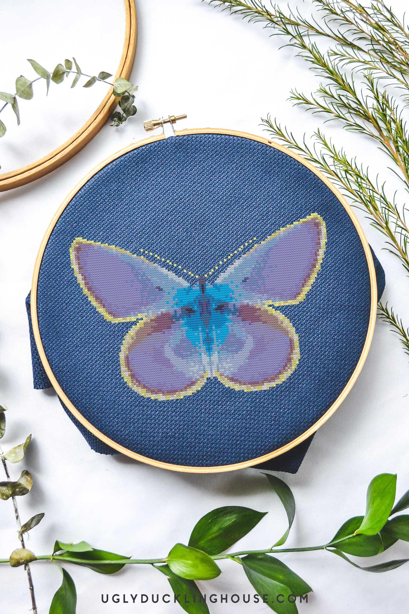Glowing Butterfly | Free Cross Stitch Pattern