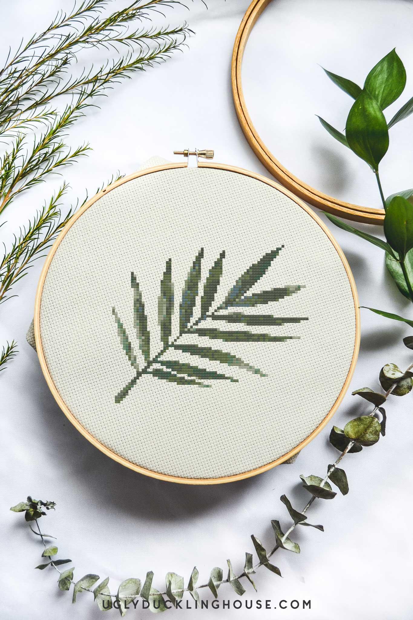Palm Frond | Free Cross Stitch Pattern & Library Update
