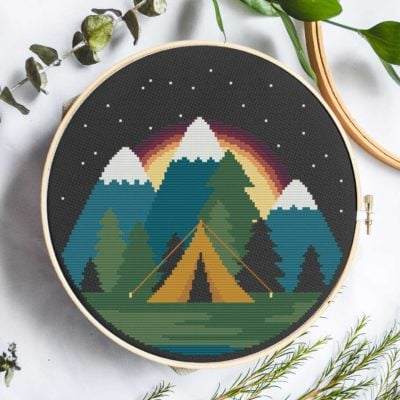 Starlight Camping | Free Cross Stitch Pattern