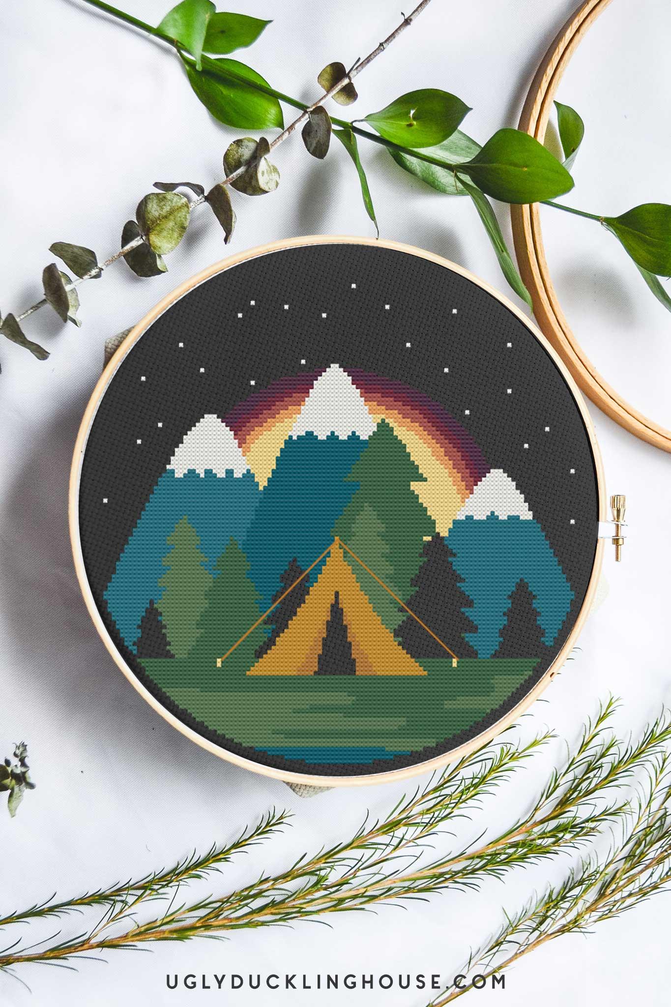 Starlight Camping | Free Cross Stitch Pattern