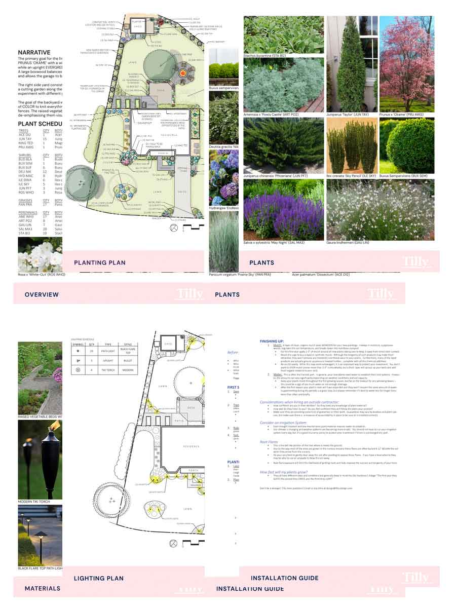 tilly professional virtual landscaping design plan