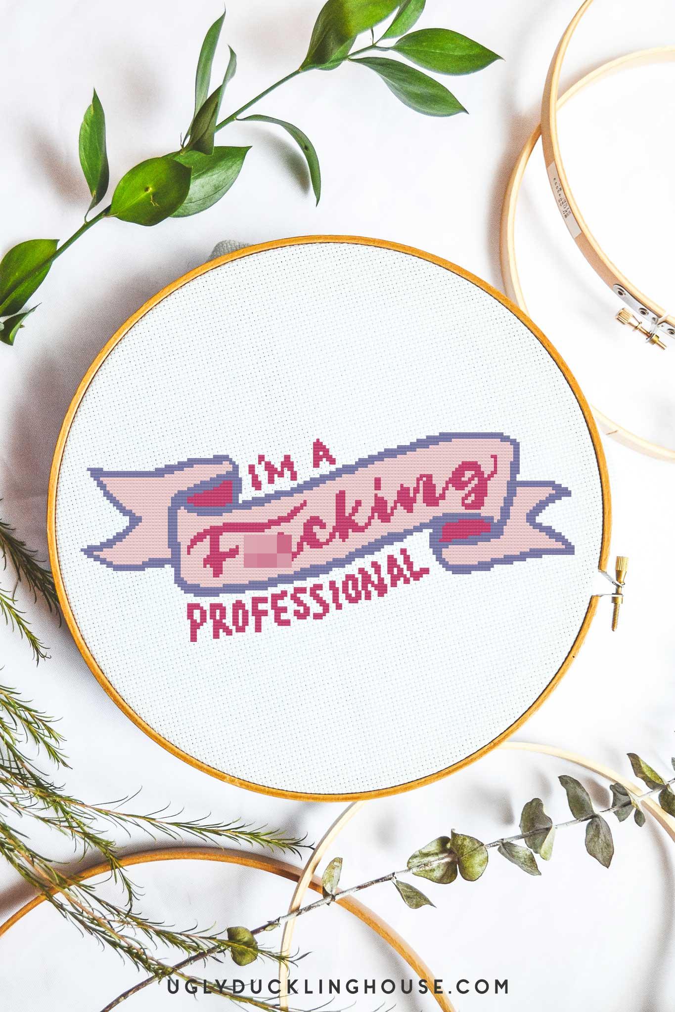 I'm a fucking professional cross stitch pattern