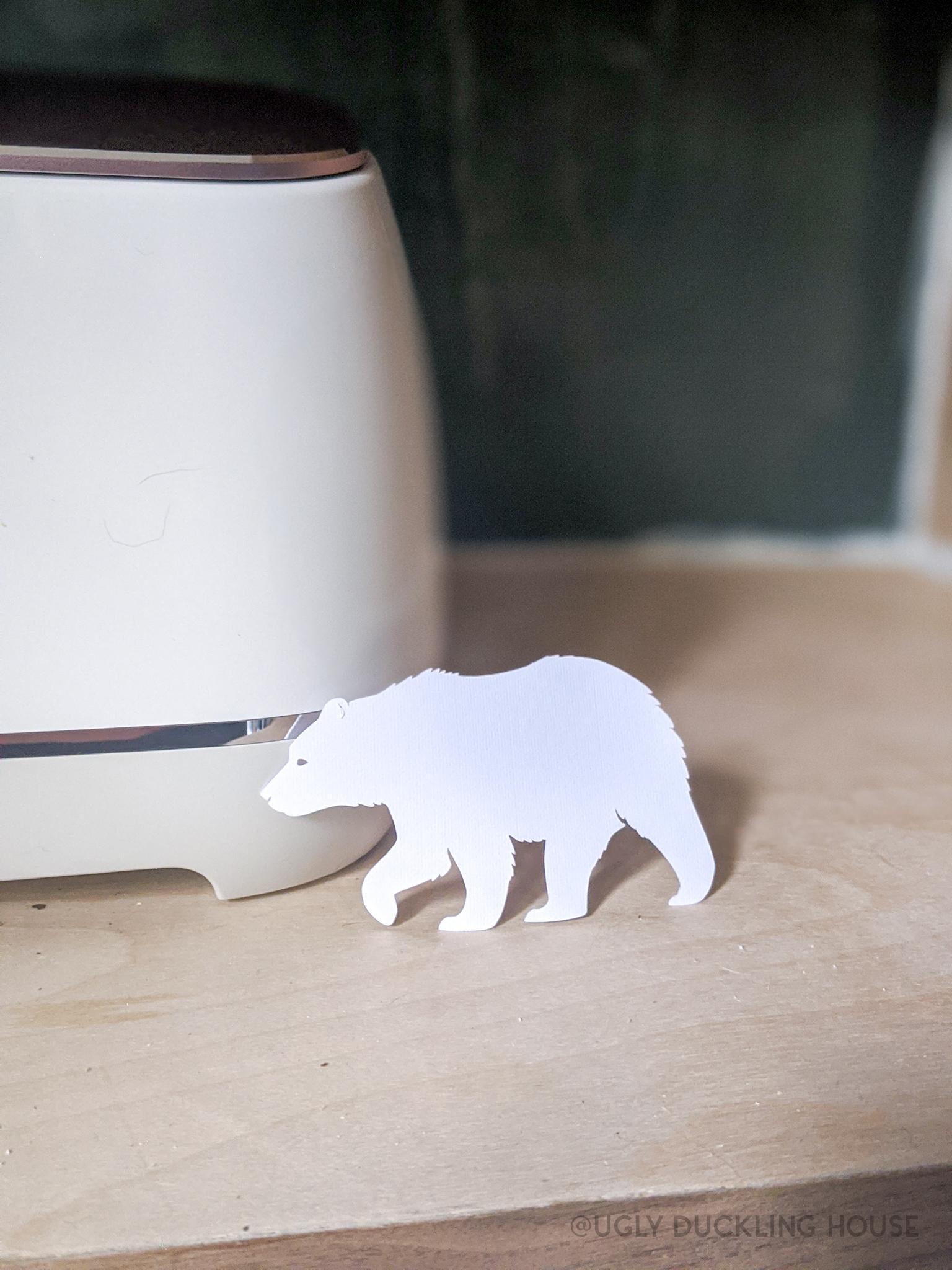 my first test piece was a little bear as part of setup